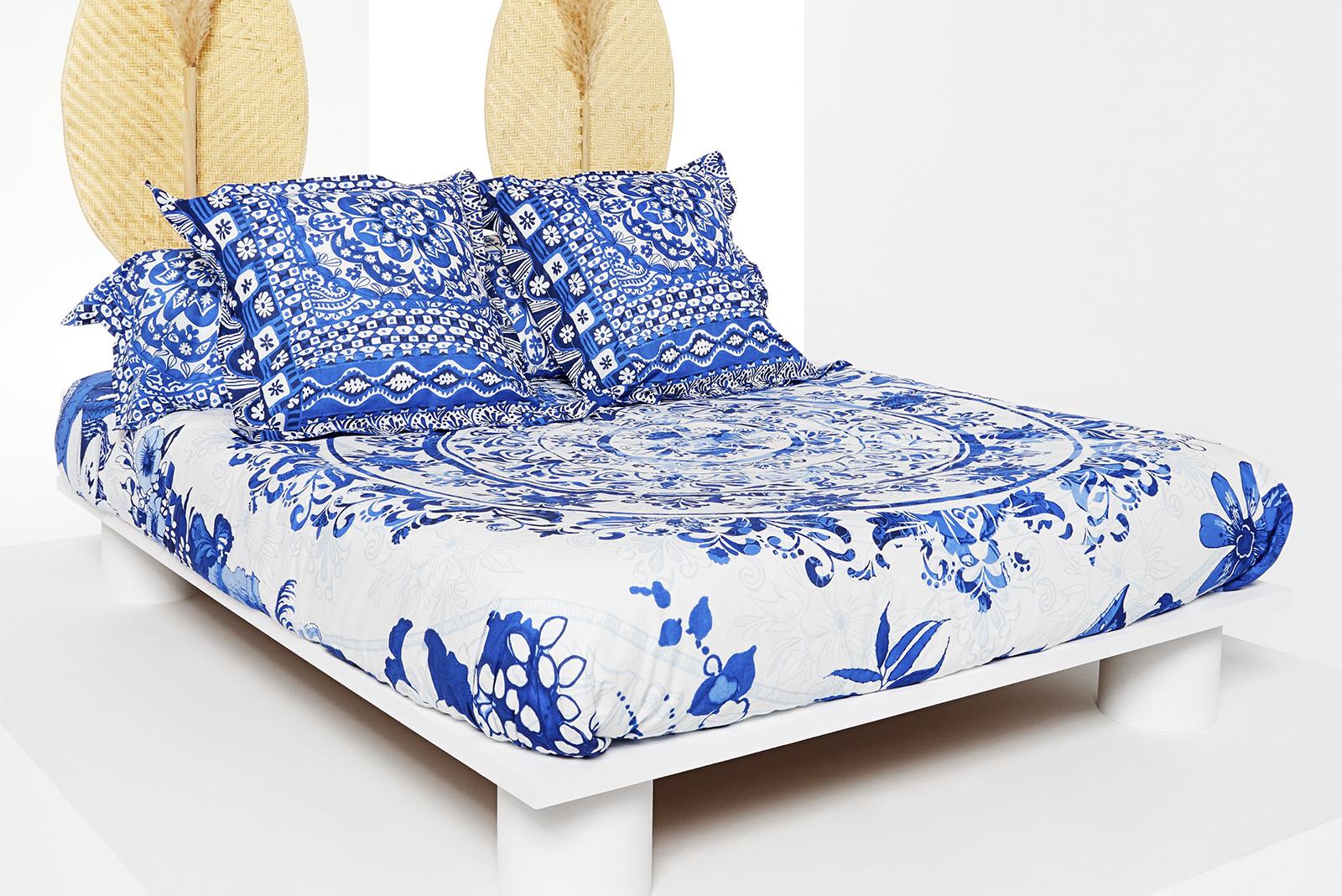 Ropa de cama Desigual modelo vegetal azul