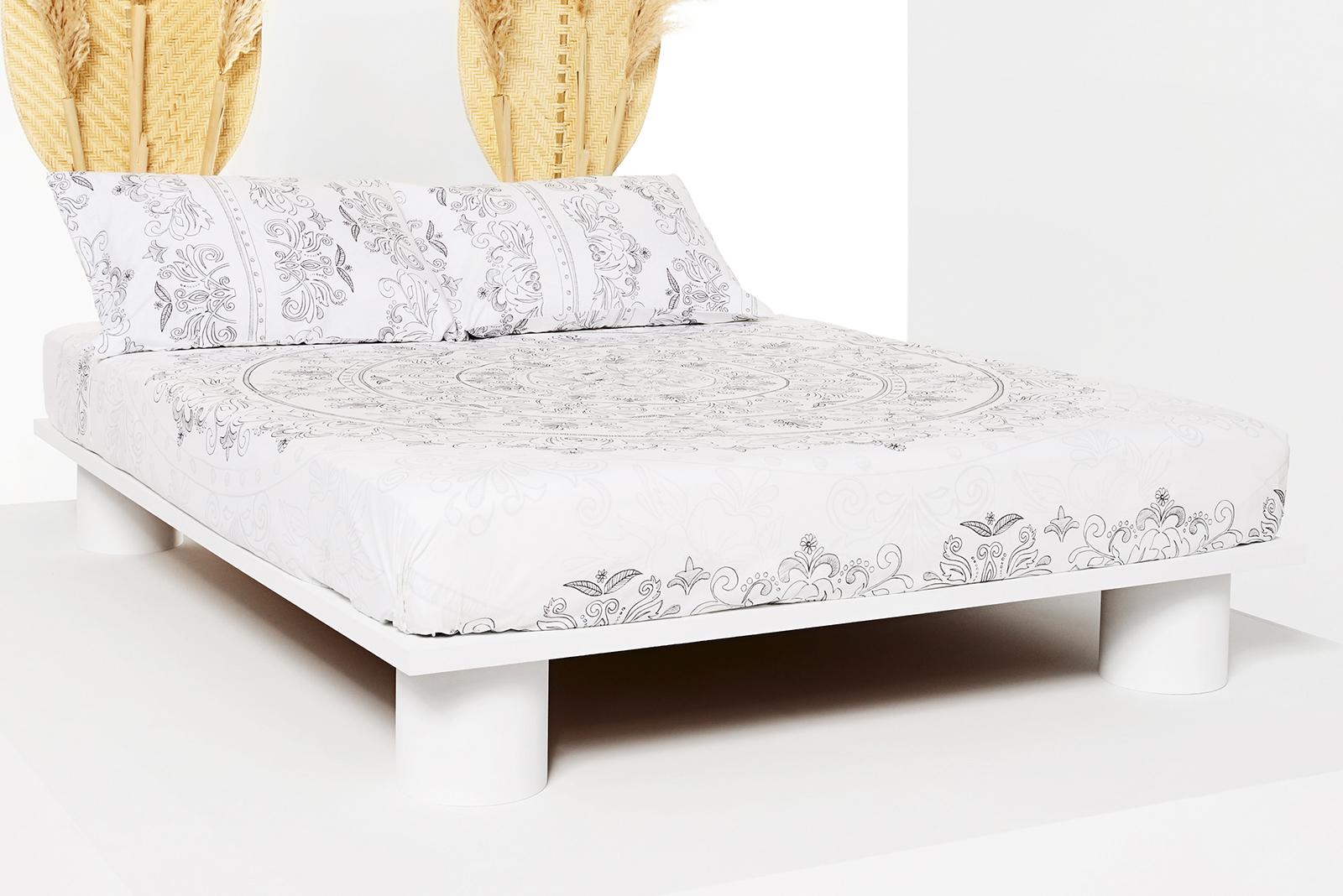 Ropa de cama Desigual modelo geometría gris