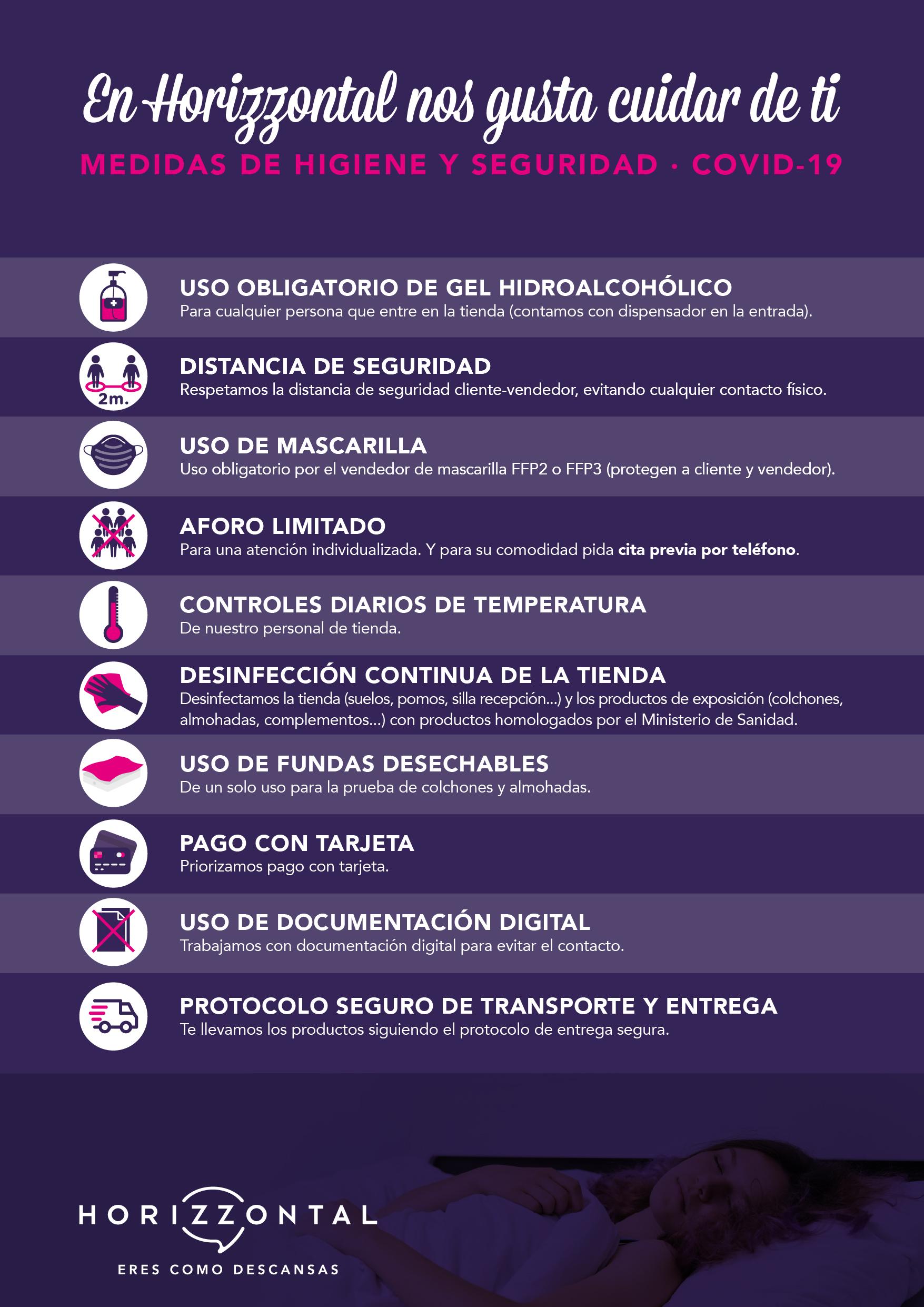 Medidas preventivas Horizzontal
